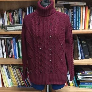 Relativity SZ PXL  Cable Knit Pullover Sweater 207